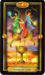 3 of Cups, Gilded Tarot
