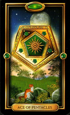 The Ace of Pentacles, The Gilded Tarot, Ciro Marchetti