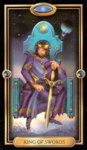 King of Swords, Gilded Tarot