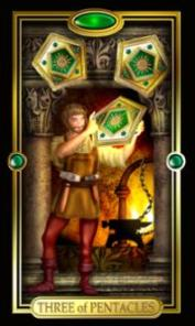 three-pentacles gilded