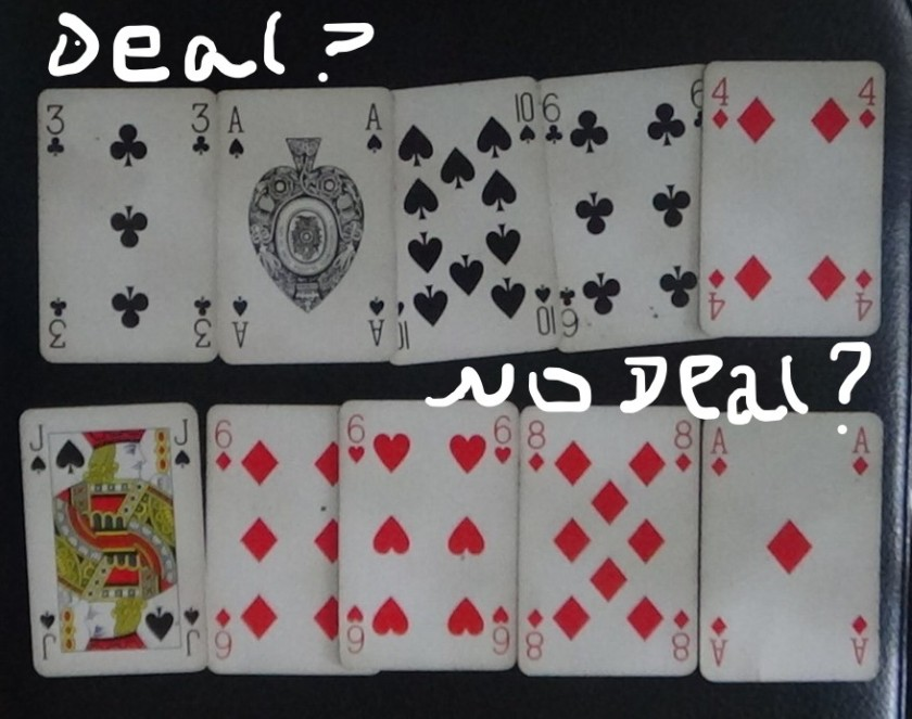 Cards Deal or no deal