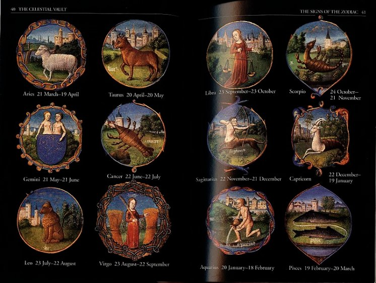 Zodiac Public Domain Book of Hours The Sky Order and Chaos Jean Pierre Verdet