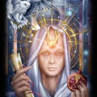 The High Priestess: Hathor, and Hecate, goddess of ghosts...